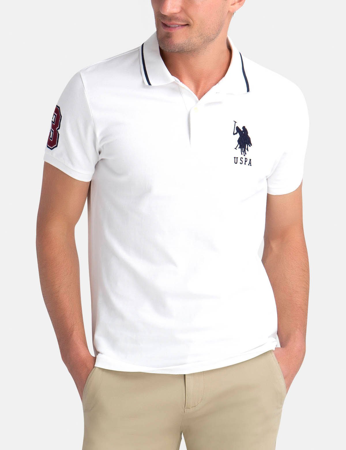SLIM FIT BIG LOGO POLO SHIRT.