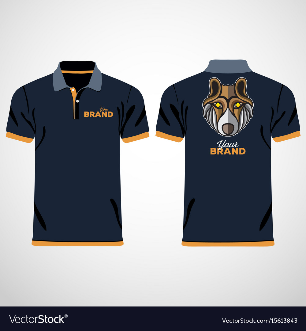 Color men polo shirts design template.