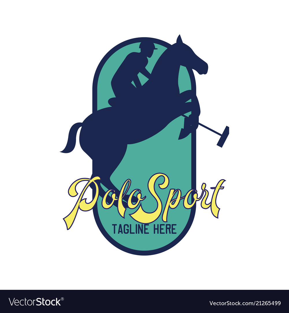 Polo sport logo with text space for your slogan.