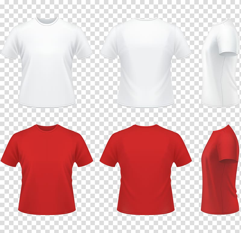 Six white and red t.