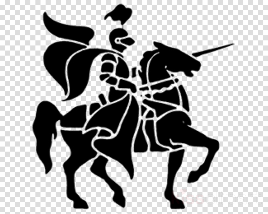 knight horse animal sports cowboy reining clipart.