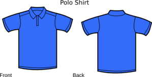 Blue Polo Shirt Clip art.