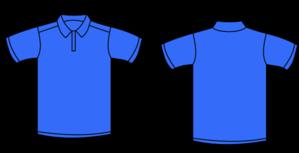 Blue Polo Shirt Clip art.
