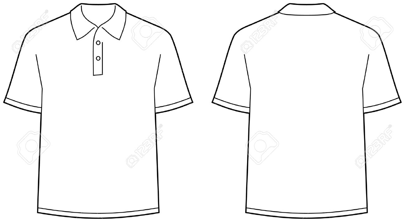 Polo shirt with a logo clipart.