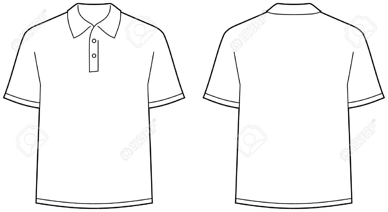 Polo shirt with a logo clipart.