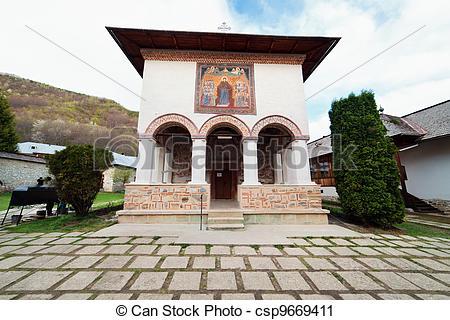 Stock de fotografía de Polovragi, monasterio.