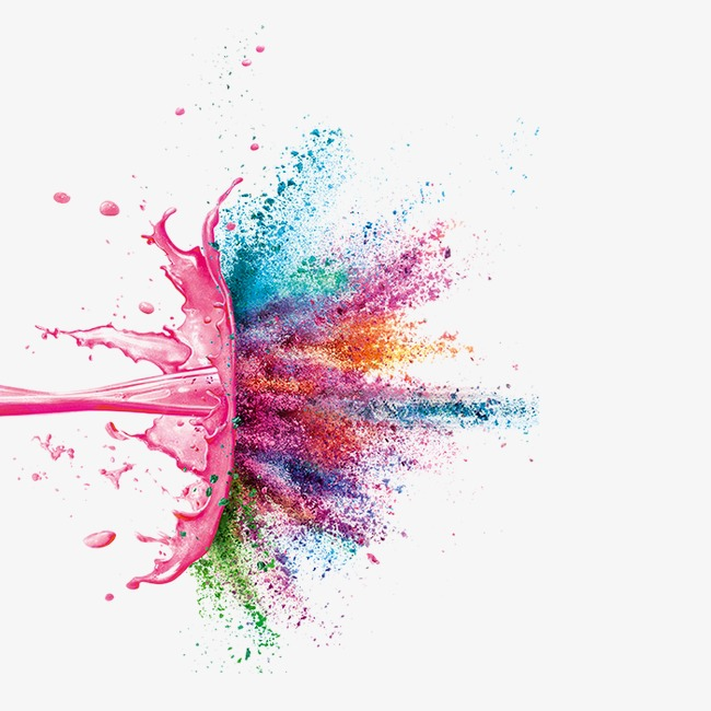 Polvos De Colores Flotante, Pink, Color, Rojo Imagen PNG.