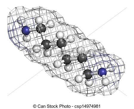 Stock Illustration of Hexamethylenediamine, nylon (polyamide.