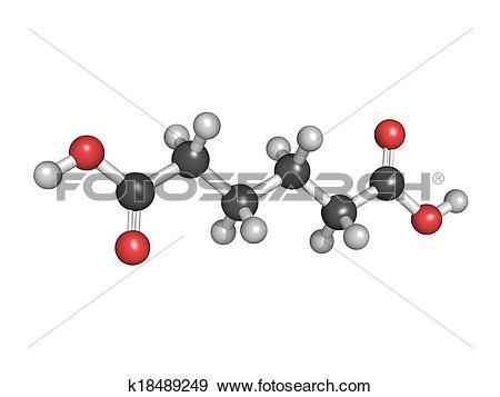 Stock Photograph of Adipic acid, nylon (polyamide) building block.