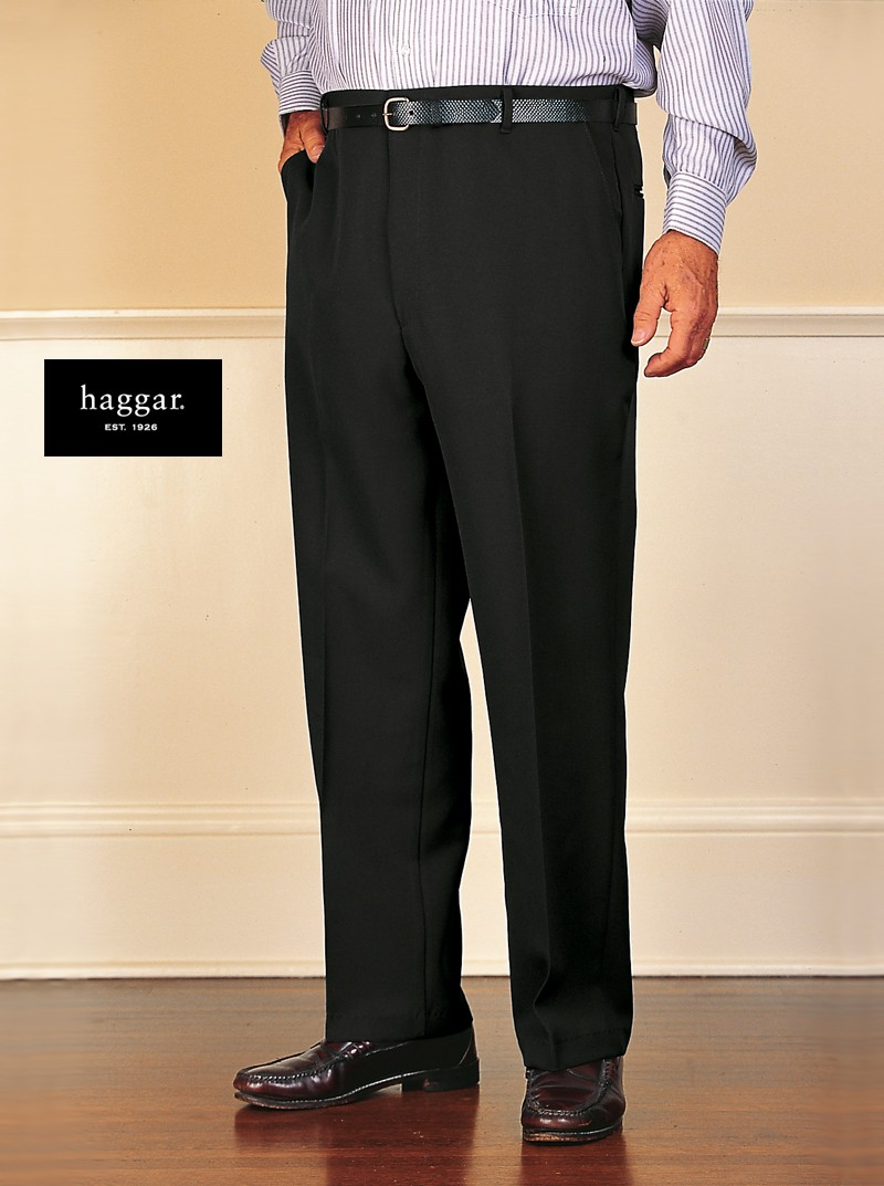 Men's Polyester Dress Slacks by Haggar.