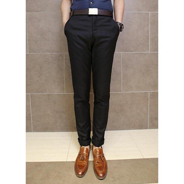 Slimming Trendy Solid Color Pocket Design Straight Leg Polyester.