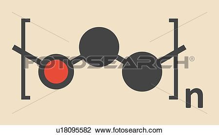 Clip Art of Polyethylene polymer molecule u18095582.