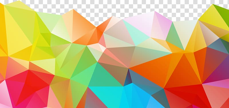 Multicolored abstract illustration, Polygon Geometry Color.