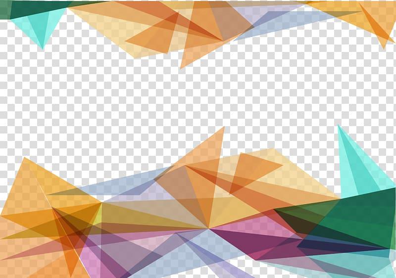 Orange and green , Triangle Polygon, Colored triangle.