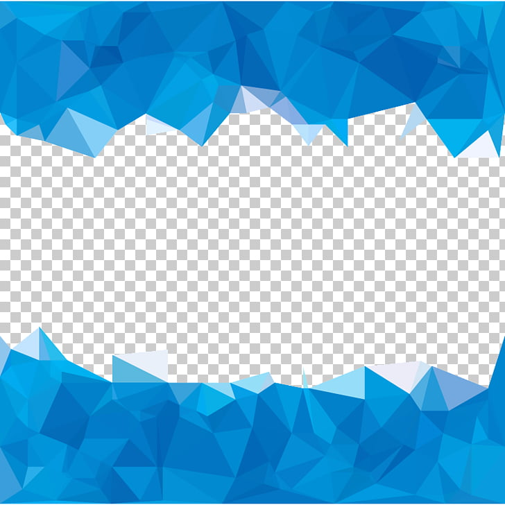 Blue Polygon Abstraction, Sky Blue polygons abstract.