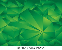 Polygon background green. Abstract polygonal background.