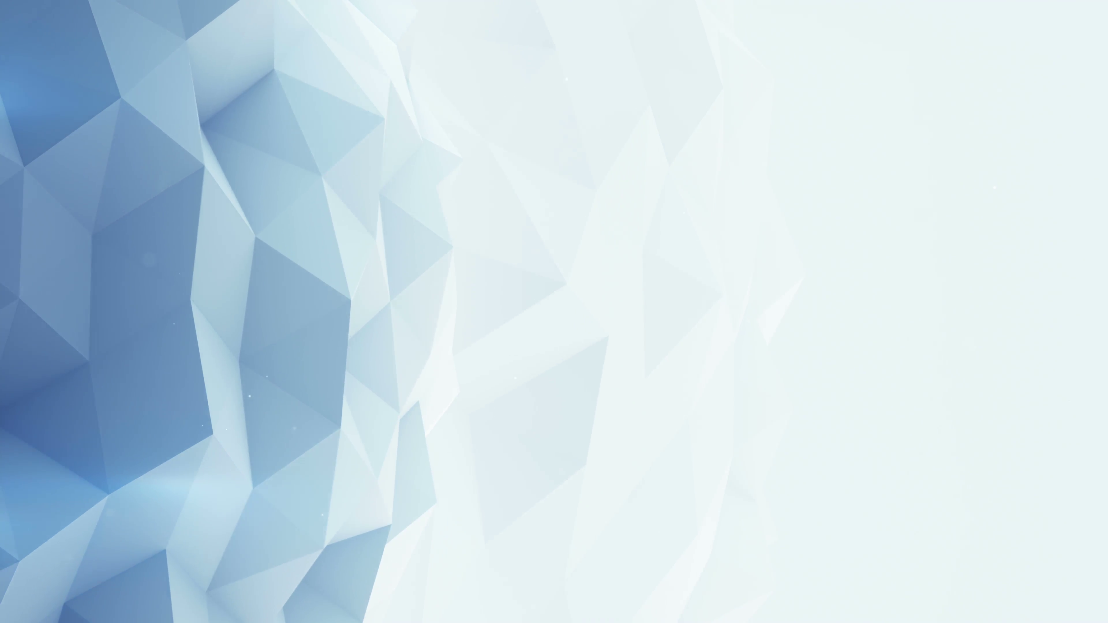 Light blue polygonal background seamles loop 3D render 4k UHD (3840x2160)  Motion Background.