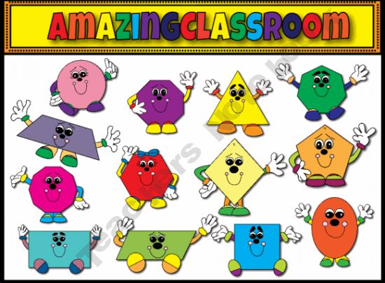 Polygon People and Friends Clip Art.