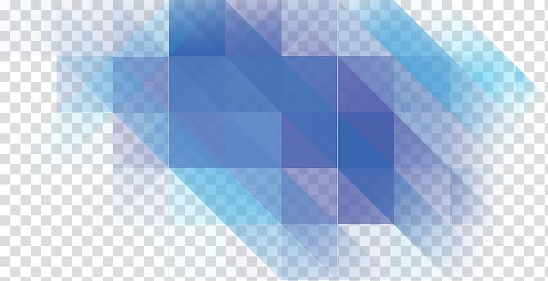 Graphic design Desktop Angle, blue polygon transparent.