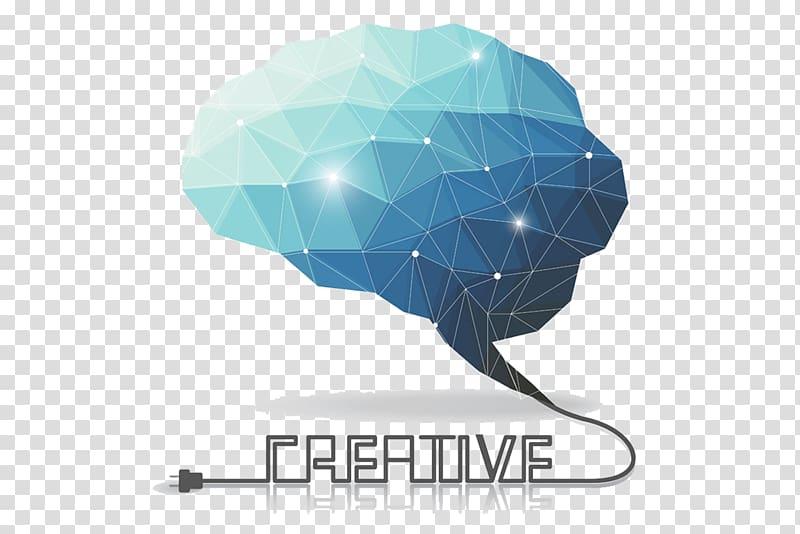 Creative logo, Human brain Polygon Euclidean , Creative.