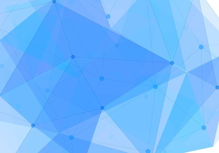 Free Vector Blue Polygon Background.