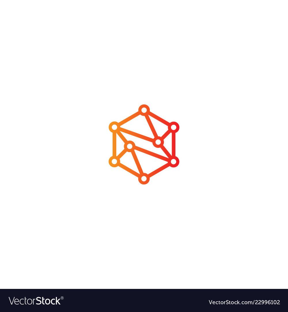 Connection polygon technology logo.