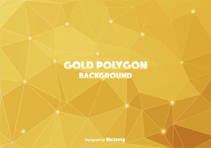 Gold Polygonal Vector Background.