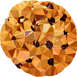 Choc chip cookie triangle art geometry geometric polygon vector graphics RF  clip art images clipart. Royalty.