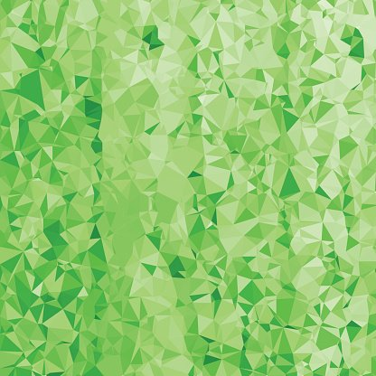 Abstract Green Polygonal Background. Clipart Image.
