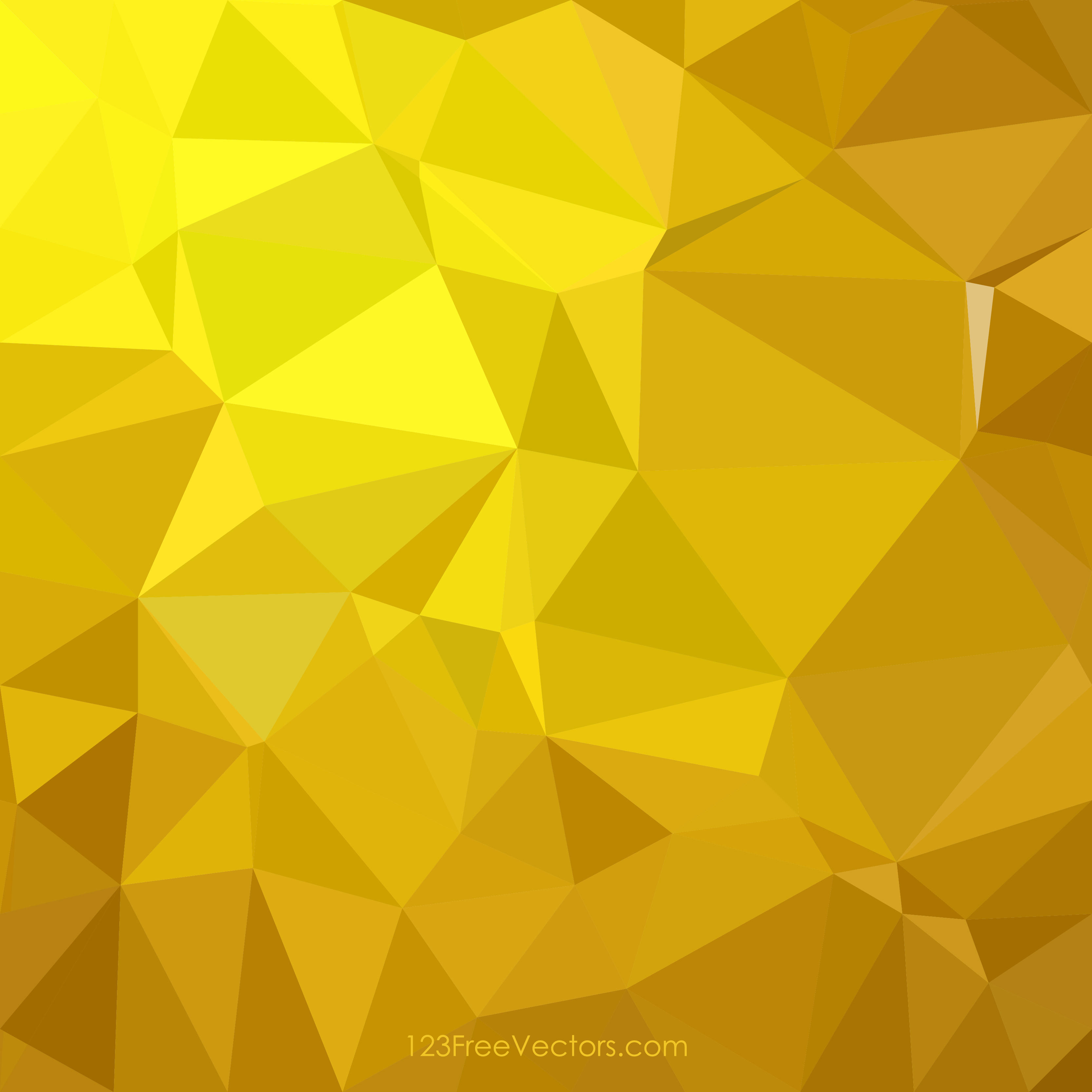 Golden Abstract Polygonal Background Clip Art.