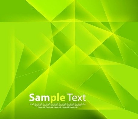 Abstract Green Polygonal Background Clipart Picture.