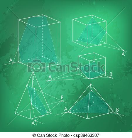 Vector Clipart of Math picture.