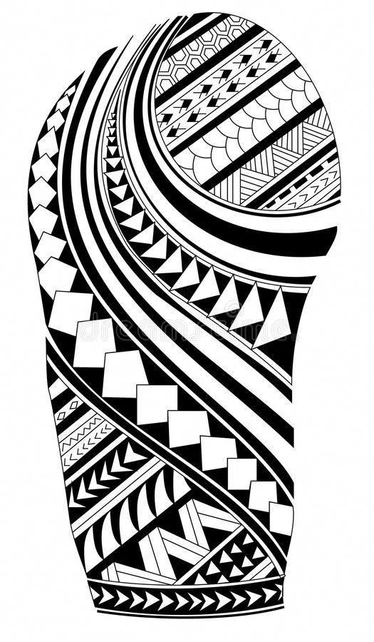 Polynesian Tattoo Drawing.