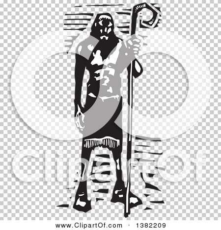 Clipart of a Black and White Woodcut Cyclopes Polyphemus from.