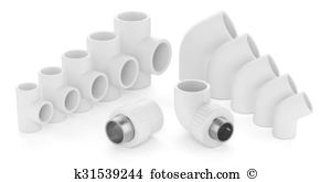 Fittings polypropylene Illustrations and Clipart. 50 fittings.