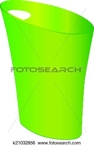 Clip Art of Polypropylene Waste Can k21032856.