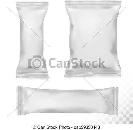 EPS Vector of Polypropylene package on transparent background.