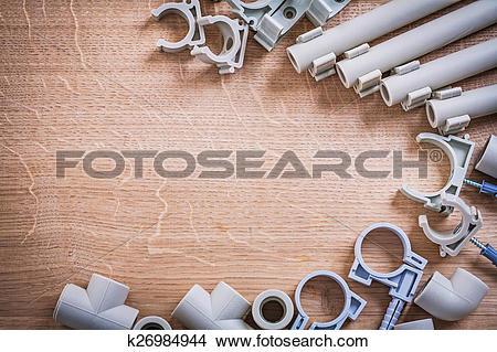Stock Photo of Organized Copyspace Big Set Polypropylene Fixators.