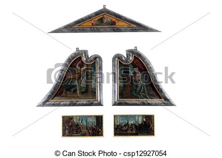 Stock Images of The polyptych of St. Lawrence.