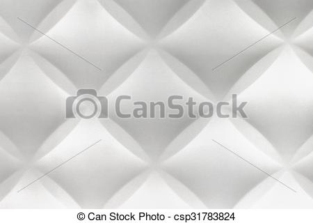 Clip Art of White Abstract 3D Modern Home Interior Polystyrene.