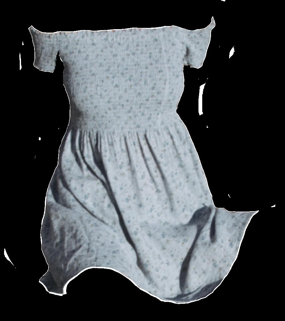 Blue dress polyvore moodboard filler.