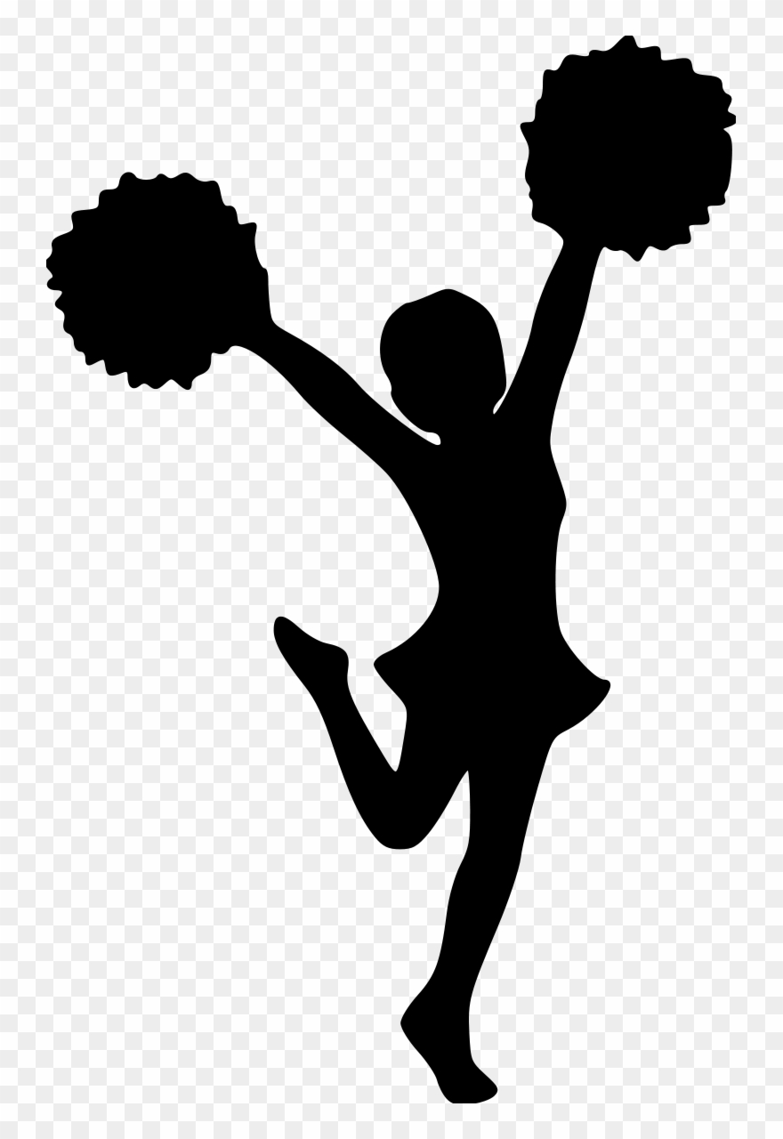 Clip Free Library Cheerleading Clipart Black And White.