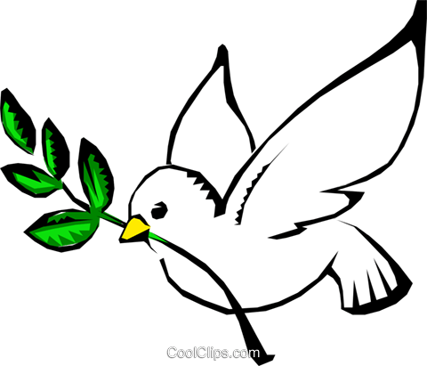 Dove of peace Royalty Free Vector Clip Art illustration.