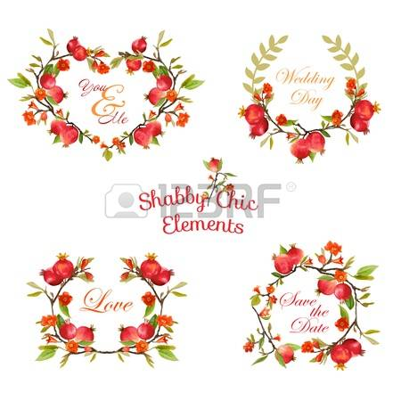 233 Pomegranate Blossom Stock Vector Illustration And Royalty Free.