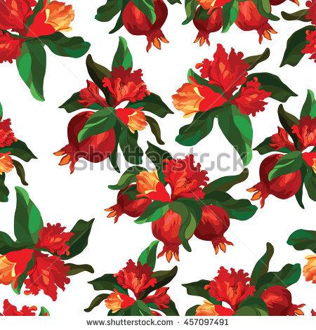 Pomegranate Flower Stock Photos, Royalty.