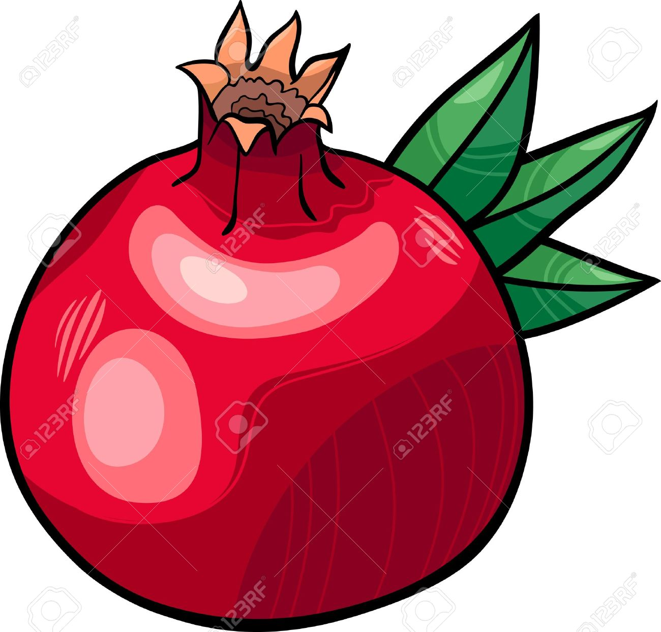 Pomegranate clipart free.