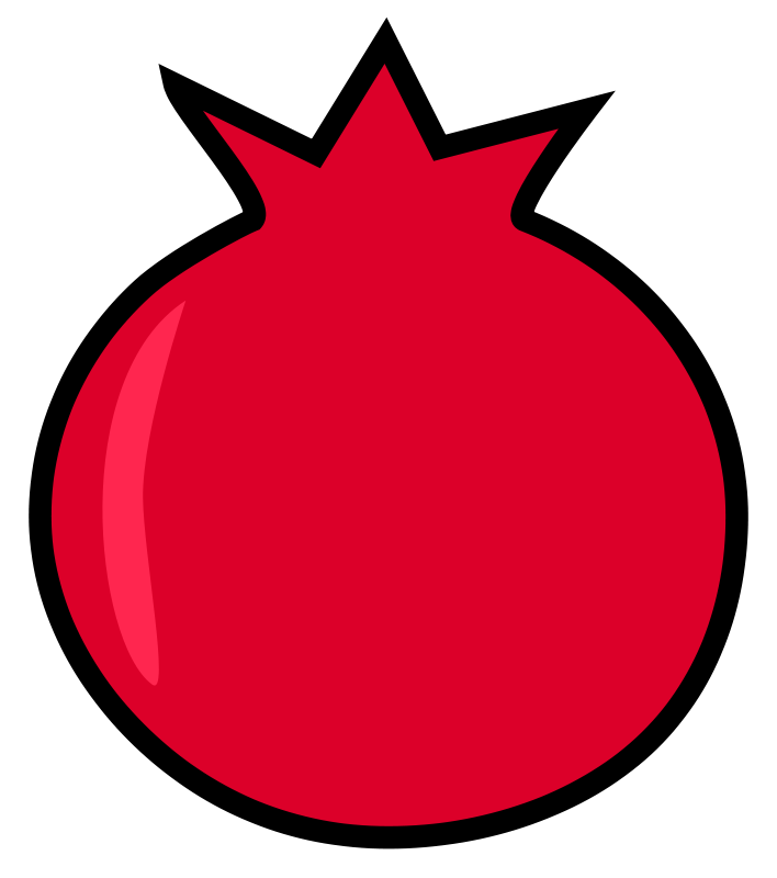 Free Clipart: Pomegranate.