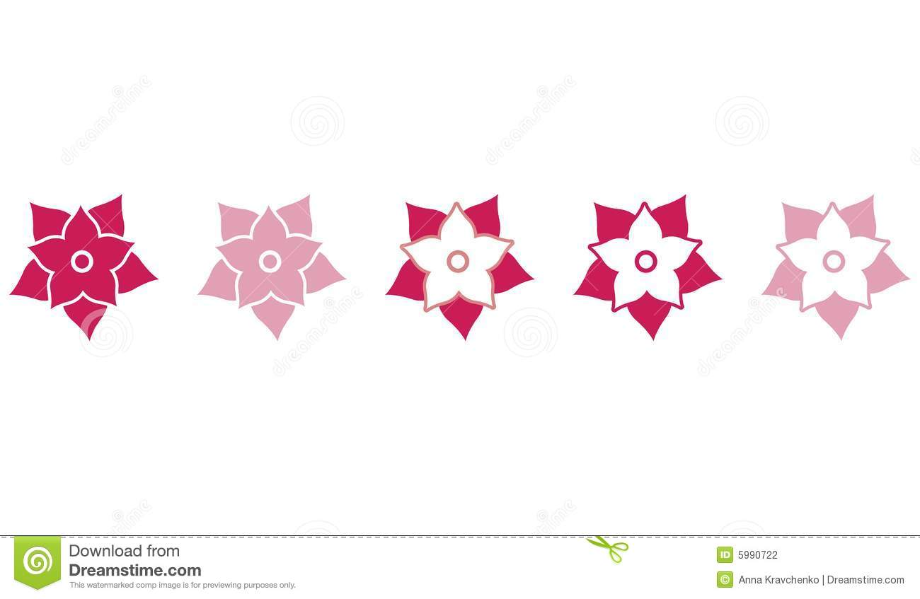 Pomegranate Pattern Flowers Stock Photography.