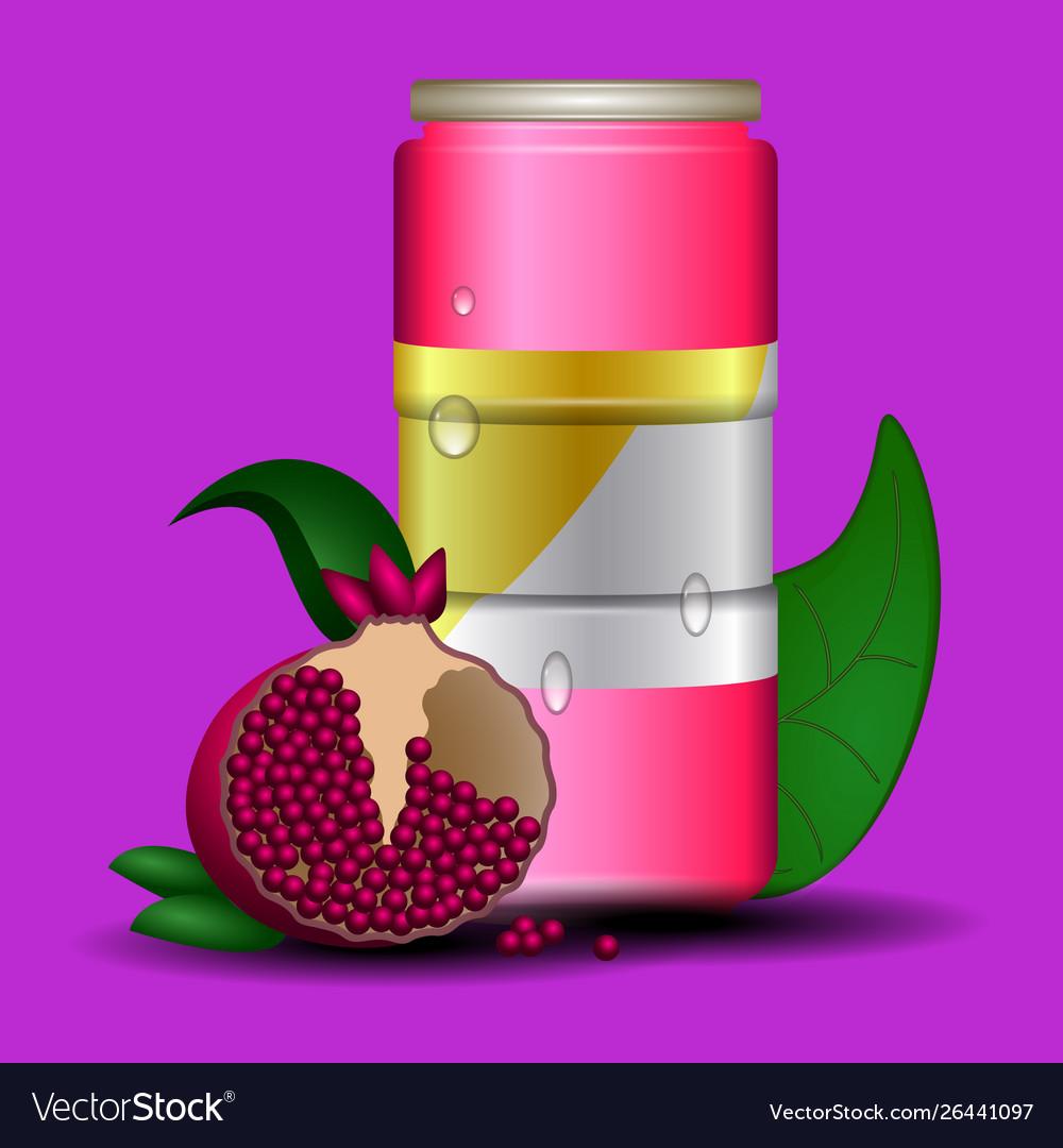 Can pomegranate juice.