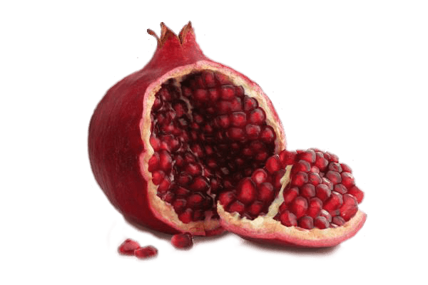 Open Pomegranate transparent PNG.